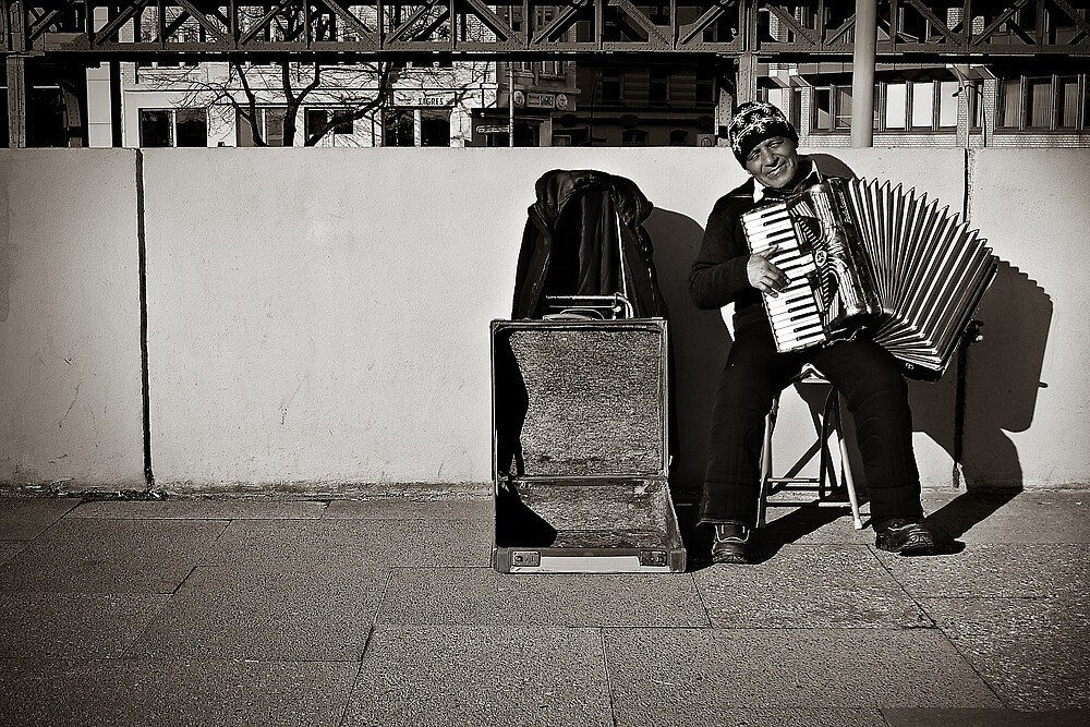 The Accordeonist by Vincent Riedweg