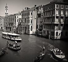 Venice Rush Hour by Imre Krénn