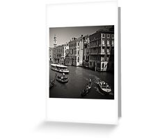 Venice Rush Hour Greeting Card