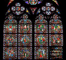 Stained glass window, Notre Dame, Paris by churchmouse
