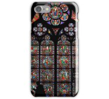 Stained glass window, Notre Dame, Paris iPhone Case/Skin