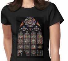 Stained glass window, Notre Dame, Paris Womens Fitted T-Shirt
