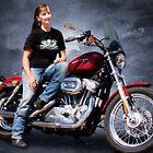 Me and my bike by Linda Lees