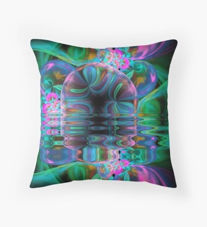 The Loonie River Throw Pillow