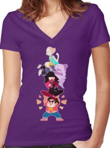 Power Lift ! Women's Fitted V-Neck T-Shirt