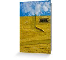 Mellow Yellow- brick wall Greeting Card