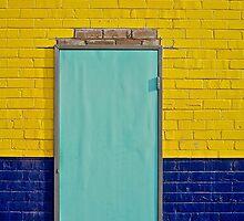 Sky blue door; Old factory rejuvenated by mypic