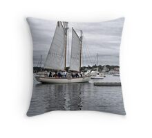 White Sails in the Stormset Throw Pillow