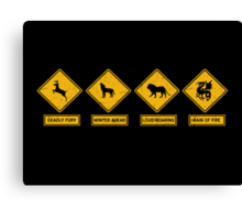 Danger Ahead Canvas Print
