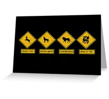 Danger Ahead Greeting Card