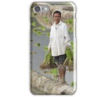Planting Rice in Rural Laos iPhone Case/Skin