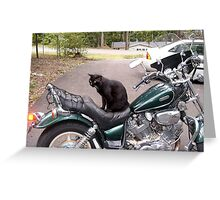 Biker Cat! Greeting Card