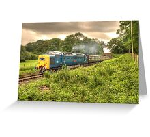 Deltic in Somerset Greeting Card