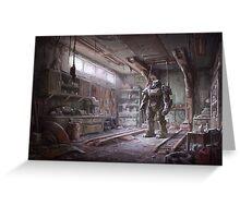 Fallout 4 Wallpaper Digital Art Greeting Card