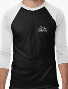 bicycle - white Men's Baseball ¾ T-Shirt