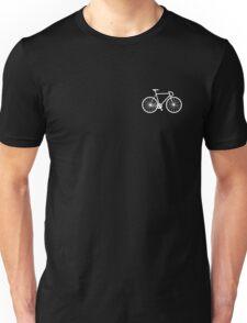 bicycle - white Unisex T-Shirt