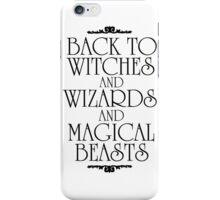 Back To Hogwarts iPhone Case/Skin