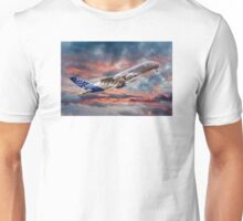 Airbus A380 - Sunset Unisex T-Shirt