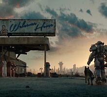 Fallout 4 Wallpaper Digital Art Lone Ranger by MrLophanor47