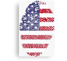 American Fingerprint Flag Canvas Print