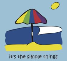 Simple Things - Beach Umbrella Kids Tee