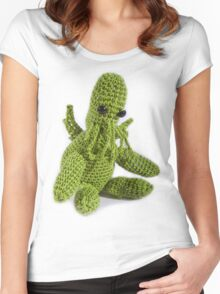 Little Knit Cthulhu Women's Fitted Scoop T-Shirt