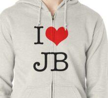 I Love JB Zipped Hoodie