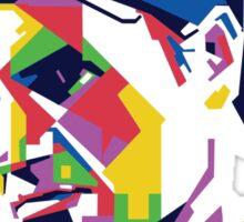 Roger Federer art Sticker