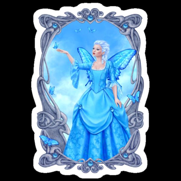 Blue Topaz Birthstone Fairy by Rachel Anderson