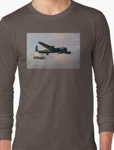 Two Icons - Lancaster and Spitfire Long Sleeve T-Shirt