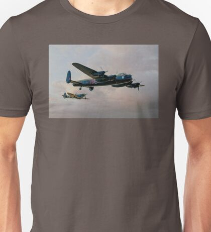 Two Icons - Lancaster and Spitfire Unisex T-Shirt