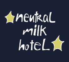 Neutral Milk Hotel (Everything Is) - White on Black Version Kids Tee