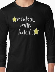 Neutral Milk Hotel (Everything Is) - White on Black Version Long Sleeve T-Shirt