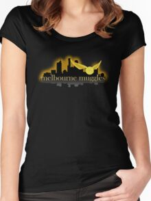 Melbourne Muggles - Hufflepuff Women's Fitted Scoop T-Shirt