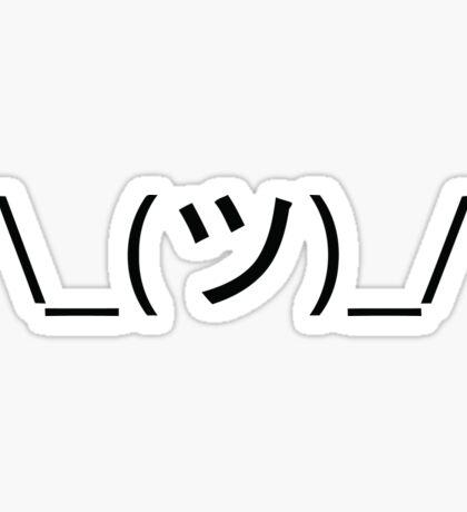 Shrug emoticon ¯_(ツ)_/¯ Sticker