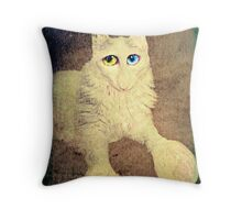 Nobody loves me because I have a big nose, but I do have beautiful eyes. Throw Pillow