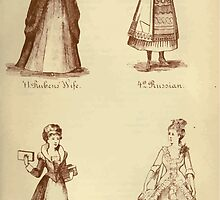 Fancy dresses described or What to wear at fancy balls by Ardern Holt 254 Ruben's Wife Russian Serving Maid Lady Teazle by wetdryvac