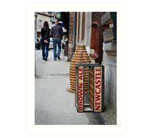 Newcastle Brown Ale Crate Art Print