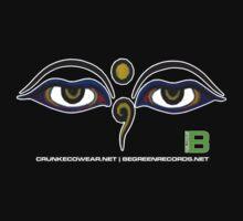Crunk Eco Wear | Be Green Records Merch | Buddha Eyes 11 by David Avatara