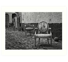 Vintage Chairs Art Print