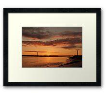 Humber Bridge Sunrise Framed Print