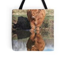 Highland Cattle Reflection Tote Bag