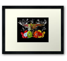 Two Toy Fish Kissing Framed Print