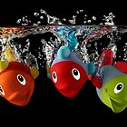 Three Toy Fish With Splash by Patricia Jacobs CPAGB