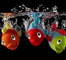 Three Toy Fish With Splash by Patricia Jacobs CPAGB LRPS BPE2