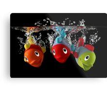 Three Toy Fish With Splash Metal Print