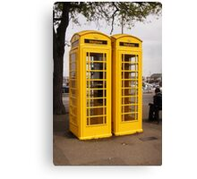 Telephone Yellow! Canvas Print