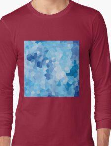 Blue Geometric Nautical Modern Pattern Abstract Art - Ocean Long Sleeve T-Shirt