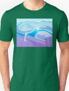Abstract Skier  Unisex T-Shirt