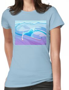 Abstract Skier  Womens Fitted T-Shirt